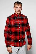 boohoo Red Long Sleeve Check Shirt