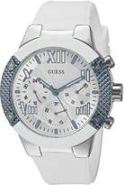 GUESS GUESS? Women's U0772L3 Sporty Multi-Function Watch on Comfortable White Silicone Strap