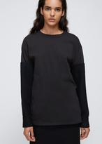 Yohji Yamamoto Black Woven Sleeve T-shirt
