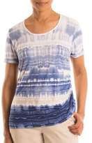 Olsen Patterned Cotton-Blend Tee