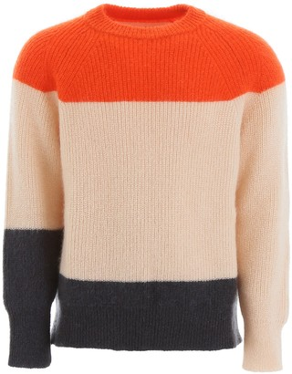 Jil Sander Colour Block Knitted Jumper