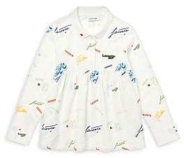 Lacoste Girls' Cotton Logo Print Polo Shirt - Little Kid, Big Kid