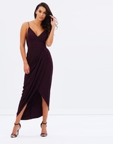 Shona Joy Core Cocktail Draped Maxi Dress