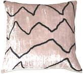 One Kings Lane Amy 18x18 Velvet Pillow Cover - White
