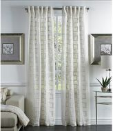 Callisto Home Lilly 120-Inch Back Tab Sheer Window Curtain Panel in White