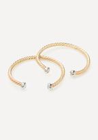 Bebe Textured Metal Bracelet