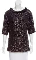 Rachel Zoe Sequined Oversize Top