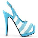 Show Story Women's White Peep Toe Slingback Stiletto Party Pump Heels Shoes,LF80902BU40,9US