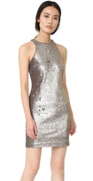 Halston Racer Back Sequined Dress