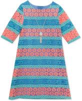 Rare Editions Lace Shift Dress & Necklace Set, Little Girls (2-6X)