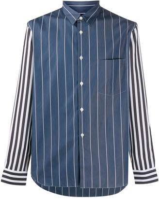Comme des Garçons Homme Plus Striped Panel Cotton Shirt