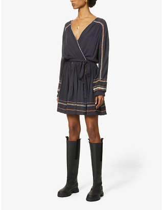 Free People Delilah woven mini wrap dress