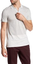 Vince Short Sleeve Striped Polo