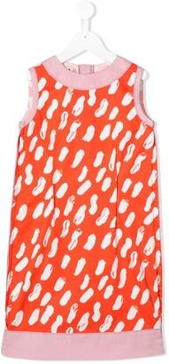 Marni Sleeveless Paint Effect Dress