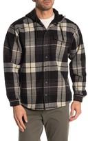 Wolverine Bucksaw Plaid Flannel Fleece Lined Hooded Shirt Jacket