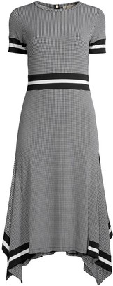 MICHAEL Michael Kors Houndstooth T-Shirt Dress