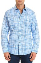 Robert Graham Port Said Printed Long-Sleeve Sport Shirt, Light Blue