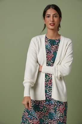 Next Womens Ecru Cosy Volume Sleeve Cardigan - White