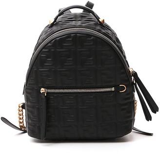 Fendi FF Logo Embossed Mini Backpack
