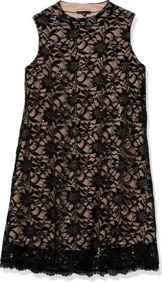 Tiana B T I A N A B. Women's Petite Mock Neck a-line Dress