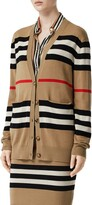 Burberry Scioto Icon Stripe Merino Wool Cardigan