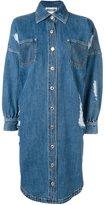 Moschino denim shirt dress - women - Cotton - 38