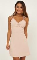 Showpo Bring It Out Dress In blush - 12 (L) Dresses