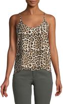 ATM Anthony Thomas Melillo Leopard-Print Silk Charmeuse Cami Top