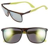 Carrera Men's Eyewear 56Mm Retro Sunglasses - Havana/ Yellow/ Yellow Mirror