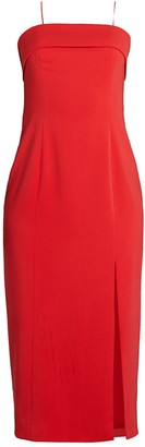 Jay Godfrey Kerr Front-Slit Sheath Dress