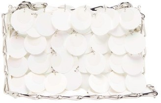 Paco Rabanne 1969 Nano Sequinned Leather Shoulder Bag - White