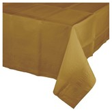 BuySeasons Gold Rectangle Plastic Tablecover