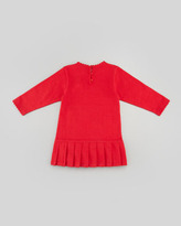 Florence Eiseman Holly Striped Drop-Waist Dress, Red, 2T-4T