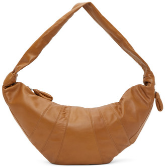 Lemaire Brown Large Croissant Bag