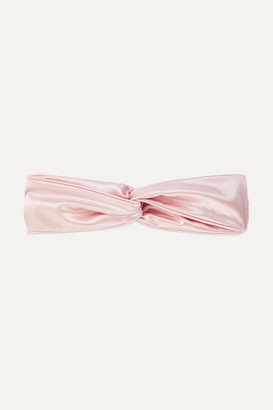 Slip Twist Silk Headband - Pastel pink