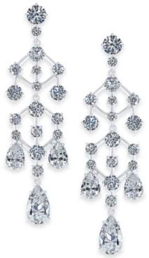 Eliot Danori Silver-Tone Crystal Chandelier Drop Earrings, Created for Macy's