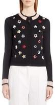 Fendi Women's Studded Floral Cashmere & Silk Cardigan