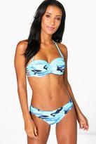 Boohoo Greece Underwire Strappy Camo Bikini