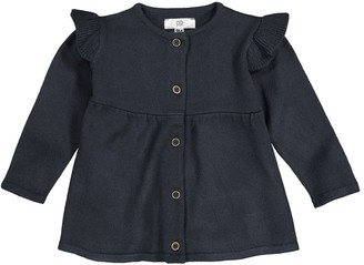 La Redoute Collections Buttoned Cardigan with Ruffles, 1 Month-3 Years