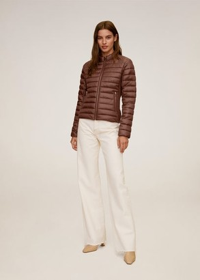 MANGO Side-zip quilted coat