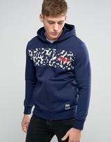 Puma Print Hoodie In Blue 57160308