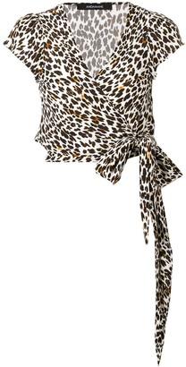 Andamane Leopard Print Wrap Top