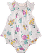 First Impressions Floral-Print Cotton Skirted Romper, Baby Girls, Created for Macy's