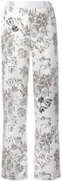 Salvatore Ferragamo wide-leg floral trousers - women - Silk - 38