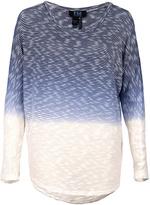 FDJ French Dressing Indigo Dip-Dye Stripe Long-Sleeve Top - Plus Too