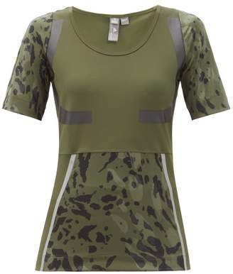 adidas by Stella McCartney Climalite Bodycon Jersey T Shirt - Womens - Khaki