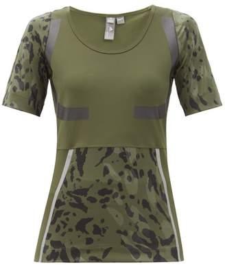 adidas by Stella McCartney Climalite Bodycon Jersey T-shirt - Womens - Khaki