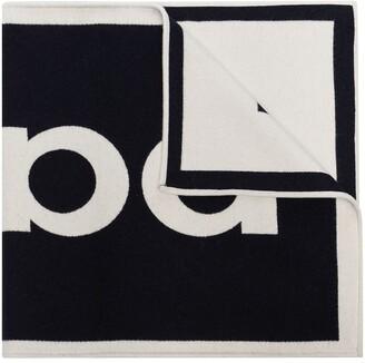 Paco Rabanne Two-Tone Jacquard Logo Scarf