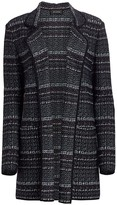 St. John Textured Boucle Tweed Knit Jacket