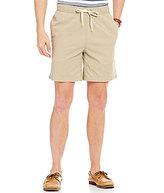 Roundtree & Yorke Casuals Full Elastic-Waist Twill Pull-On Shorts